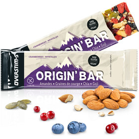 OVERSTIM.s Origin Caja Barritas Energéticas 6x40g, Cranberries Blueberries